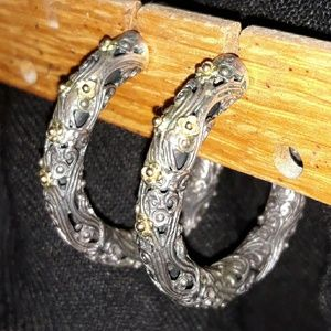 Konstantino Filigree SS/18K Hoop Earrings